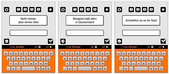 Screenshots Reklame App