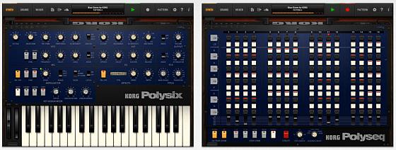 KORG iPolysix Synthesizer App für das IPAD - Screenshots