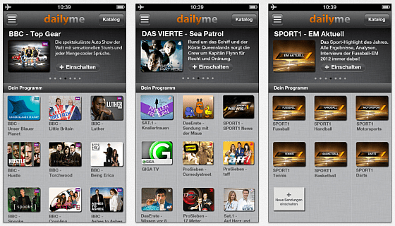 dailyme Screenshot iPhone