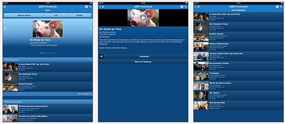 ARD Mediathek App Screenshots