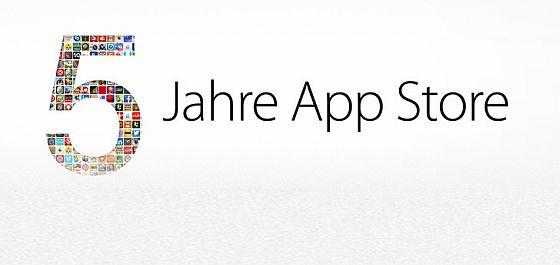 Fünf Jahre App Store - Wir gratulieren
