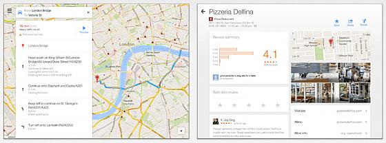 Google Maps für das iPad