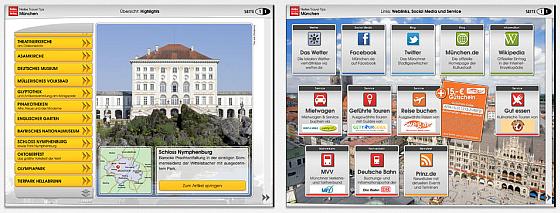 Nelles Verlag Reiseführer München für das iPad