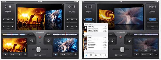 vjay ist insbesondere auf dem iPad eine geniale App zum Mixen von Video mit Musik.