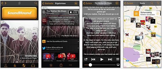 Soundhound Screens