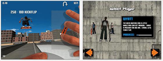 Auf dem iPad scheint PureSkate besser zu funktionieren - denn auf dem iPhone erreicht man immer schnell den Displayrand, wenn man versucht, die vorgegebenen Bewegungen zu machen. Daher unsere Empfehlung: PureSkate auf dem iPad ausprobieren.