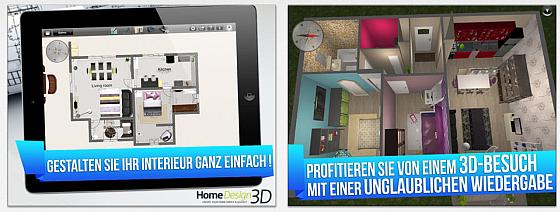 Mit Home Design 3D Gold kannst Du ein Haus oder eine Wohnung planen und einrichten.