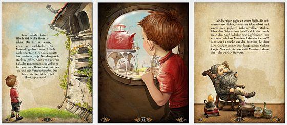Gute Idee: Zu The Tiny Bang Story gibt es ein Kinderbuch von Karin Afshar, in dem die Geschichte erklärt und schön illustriert wird.