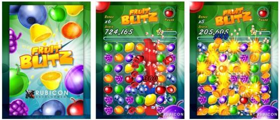 Richtig was los auf dem Spielfeld: Fruit Blitz gefällt durch vielfältige Animationen und ein schnelles Spiel ohne viel Denkarbeit.