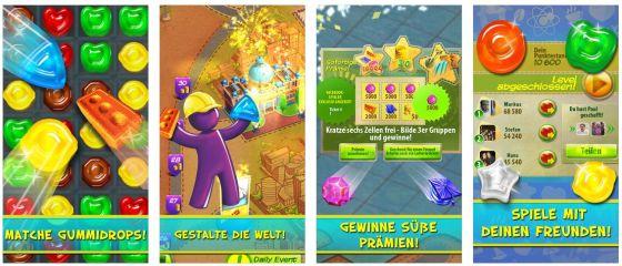 Farbenfroh und fair: Gummy Drop! wird sich im App Store durchsetzen, weil es neue Ideen bietet und das Spiel einfach Spaß macht.