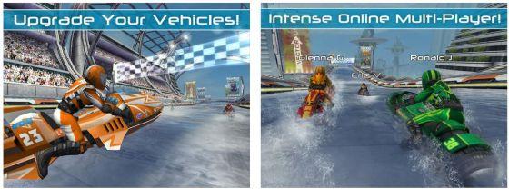 Riptide GP 2 ist eine sehr vollständige Rennsimulation für Jetski-Rennen mit zahlreichen Spielmöglichkeiten und Online-Rennen gegen menschliche Gegner.
