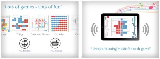 Acht verschiedene Brettspiele kannst Du entweder gegen eine andere Person auf Deinem iPhone oder iPad spielen - oder auch gegen den Computer, wenn gerade niemand mit Dir spielen möchte.