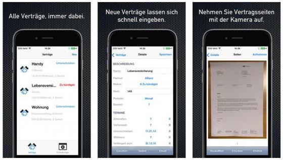 Grafisch macht die Netsuxxess Verträge und Abonnements-App recht wenig her - aber als Erinnerungsdienst hilft sie Geld zu sparen.