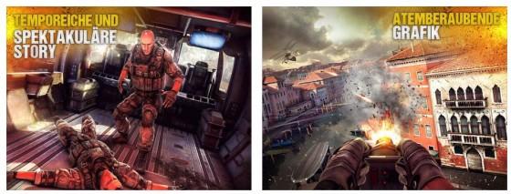 Wer hoch hinaus will, braucht ab sofort Geld - für Gelegenheitsspieler kann Modern Combat 5 dennoch zum Antesten interessant sein.