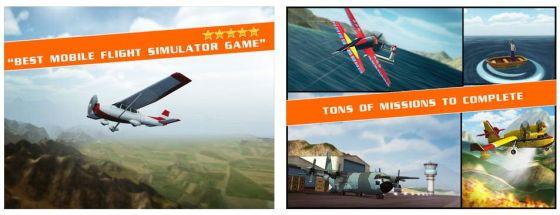Abwechslungsreiche Landschaften, 20 verschiedene Flugzeuge von der Cessna bis zum Löschflugzeug und zahllose Aufgaben zeichnen das Spiel aus. Jede Mission ist zudem Pausenfreundlich in wenigen Minuten gespielt.