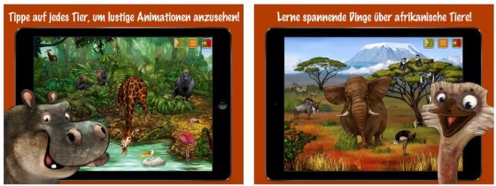 Die Tierwelten Apps laden dazu ein, viele verschiedene Tiere kennenzulernen.