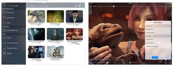 Die von den Nutzern mit 5 Sternen bewertete Video-Streaming-App öffnet iPhone, iPad und Apple TV für die auf dem Computer (Windoews oder Mac) gespeicherten Videos.