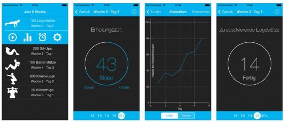 Die App Just 6 Weeks möchte Dich in 6 Wochen fitter und gesünder machen - ob ihr das gelingt, hängt vor Allem am Nutzer selbst. Die App ist leicht zu bedienen und bietet mit fünf Übungen Abwechslung.