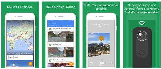 Mit Google Street View kannst Du nun auch mobil Straßen virtuell entlangfahren und Dir eine große Auswahl von Panoramabildern aus aller Welt ansehen.