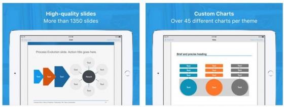 Vorlagen für Keynote Pro ist die größte Vorlagensammlung für Keynote. So hilft die App, professionelle Präsentationen mit Keynote noch einfacher zu erstellen und besser wirkende Charts einzusetzen.