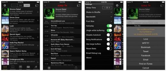 Gute Musik kostenlos: Die SomaFM Radio App bietet eine gute Auswahl an Sendern und einige Zusatzfunktionen.