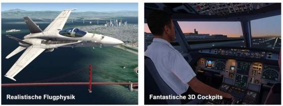 Erst fliegen lernen und dann geht es in die Lüfte: Aerofly 2macht Lust aufs Selbstfliegen.