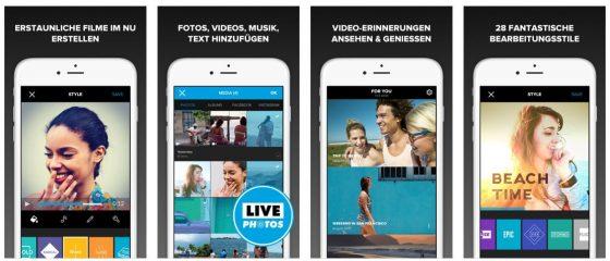 Die App Replay wurde komplett überarbeitet und heißt jetzt GoPro Quik Videobearbeiter - dabei sind alle In-App Käufe nun kostenfrei in die App enthalten.