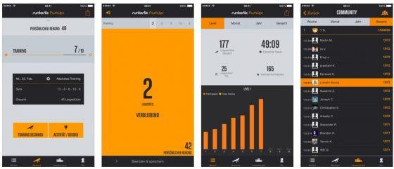 Funktioniert und motiviert: Die Runtastic-App für Liegestütze.