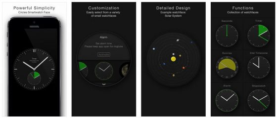 Die Uhr von Circles bietet zahlreiche Sonderfunktionen