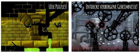 Das Design von Shadow Bug erinnert an Badland - aber das Spiel macht durch die einfache Bedienung Spaß.