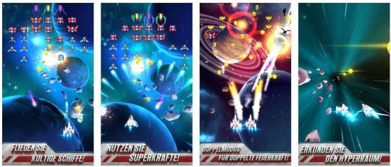 Galaga Wars erscheint zum 35. Jubiläum des Klassikers Galaga. Die Grafik ist ordentlich, das Arcade-Spiel bringt Spaß.