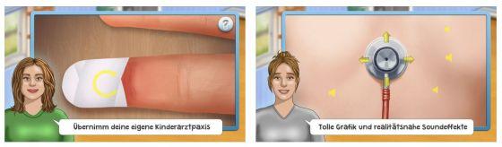 Wenn Euer Kind mal krank wird, kann es mit der App in die Rolle des Kinderarztes schlüpfen und versteht so dann auch etwas besser, was passiert.
