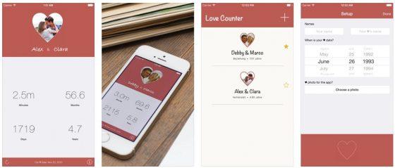 Wie lange sind wir zusammen? Vor wieviel Tagen haben wir uns das erste mal geküsst? Diese Fragen beantwortet zuverlässig und vor Allem richtig die App Counted Love.