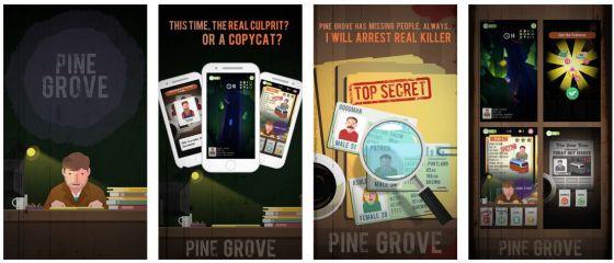 Geschicklichkeitsspiel mit Detektiv-Inhalt. Pine Grove verbindet verschiedene Spiel-Genres ganz geschickt.