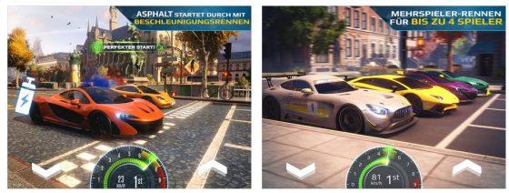 Asphalt Street Storm lässt Dich Dragsterrennen gegen Computergegner und online auch gegen echte andere Spieler fahren. Die Grafik ist, wie bei allen Spielen der Asphalt-Reihe, auf sehr hohem Niveau.