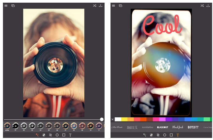 Mit Pixagram kann man gemachte Fotos nochmal überarbeiten, bevor man sie über die App dann zum Beispiel bei Facebook, Twitter oder Instagram hochlädt.