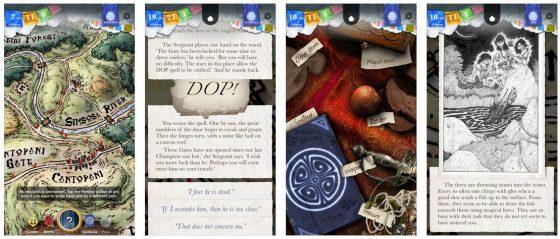 Sorcery! ist ein interaktives Abenteuerbuch auf dem iPhone oder iPad. Viel Text und viele Entscheidungen lassen Dich immer wieder einen neuen Weg durch die Handlung finden.