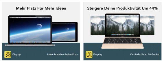 Nützliche App zur Erweiterung oder Spiegelung des PC- oder Mac-Monitors.
