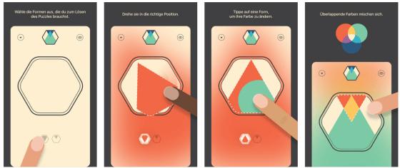 Das Spiel Colorcube ist selbsterklärend und von der Bedienung her sehr einfach.