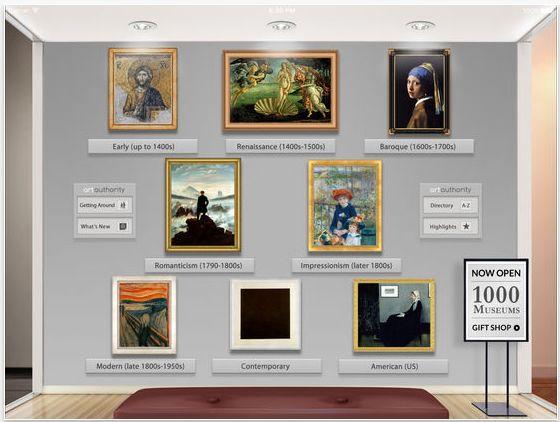 """Die Kunstwerke werden zunächst nach Kunstepochen sortiert, man kann aber auch nach Künstlern und Stichworten sowie """"ähnlicher Kunst"""" suchen."""