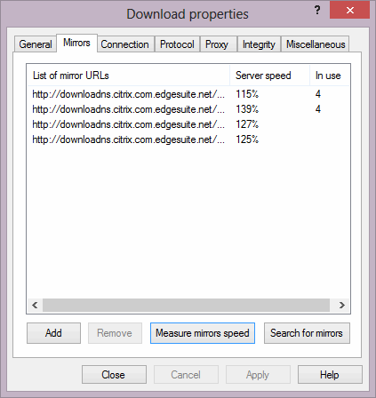 Identical mirror for the same file