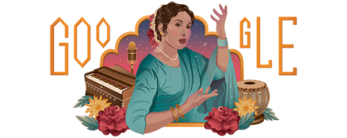 Google Doodle paying tribute to Pakistani singer Iqbal Bano on her 81st birth anniversary
