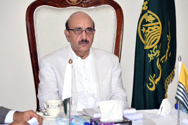 AJK President terms UNSG's call for peace sans Kashmir meaningless