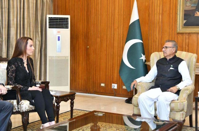 ISLAMABAD: August 24 - Ms. Gabriela Cuevas Barron, President of Inter-Parliamentary Union (IPU) called on President Dr. Arif Alvi at Aiwan-e-Sadr. APP