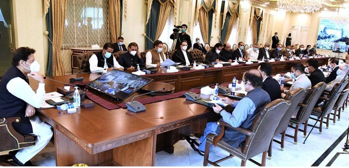 ISLAMABAD: August 20 - Prime Minister Imran Khan chairs meeting of the National Coordination Committee on Housing, Construction & Development. APP