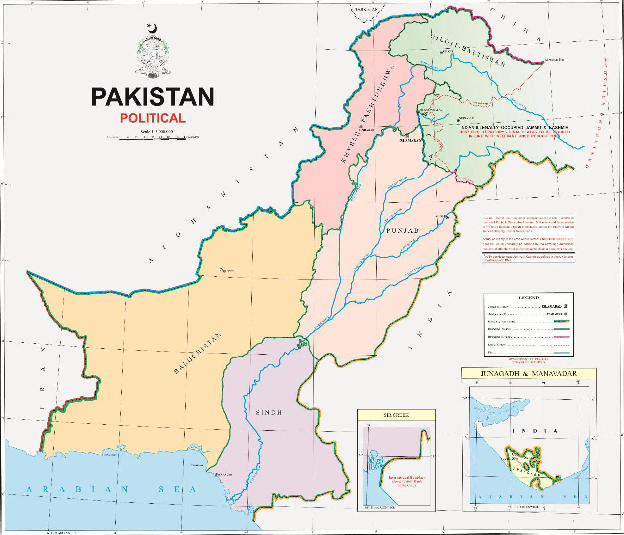 New Political Map of Pakistan