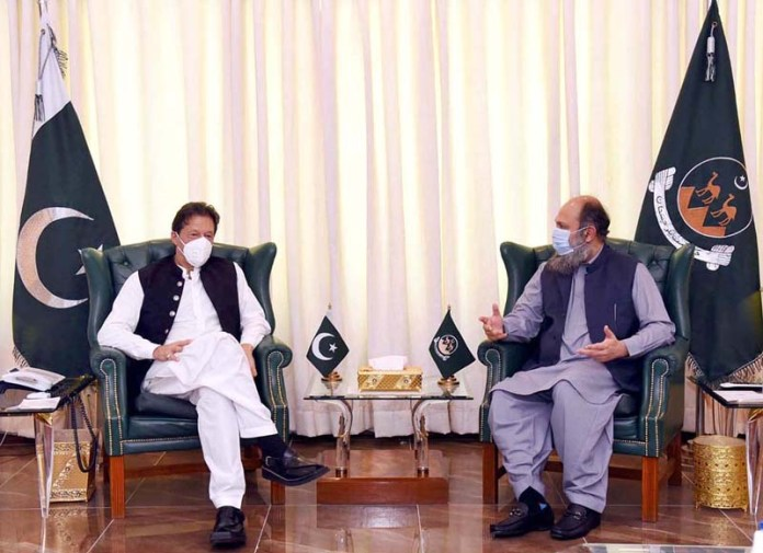 QUETTA: September 11 - Chief Minister Balochistan Jam Kamal Khan called on Prime Minister Imran Khan. APP