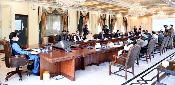 ISLAMABAD: September 16 – Prime Minister Imran Khan chairing a meeting on reforms in the power sector. APP