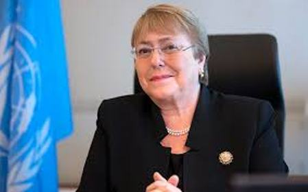 UN High Commissioner for Human Rights, Michelle Bachelet,