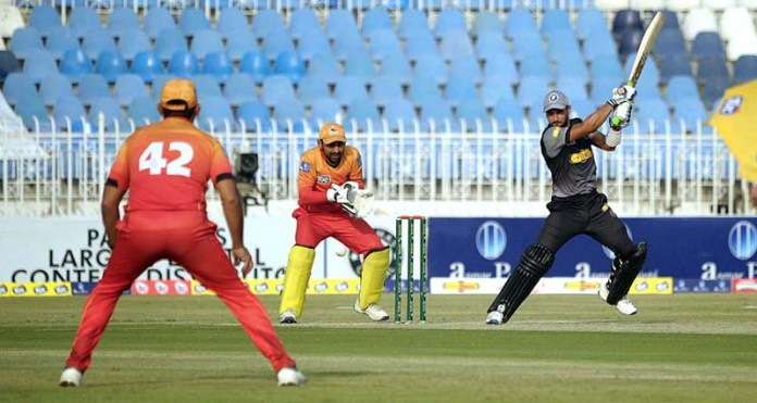RAWALPINDI: October 13 - A view of cricket match between Khyber Pakhtunkhwa and Sindh teams during National T20 Cup played at Pindi Cricket Stadium. APP photo by Abid Zia